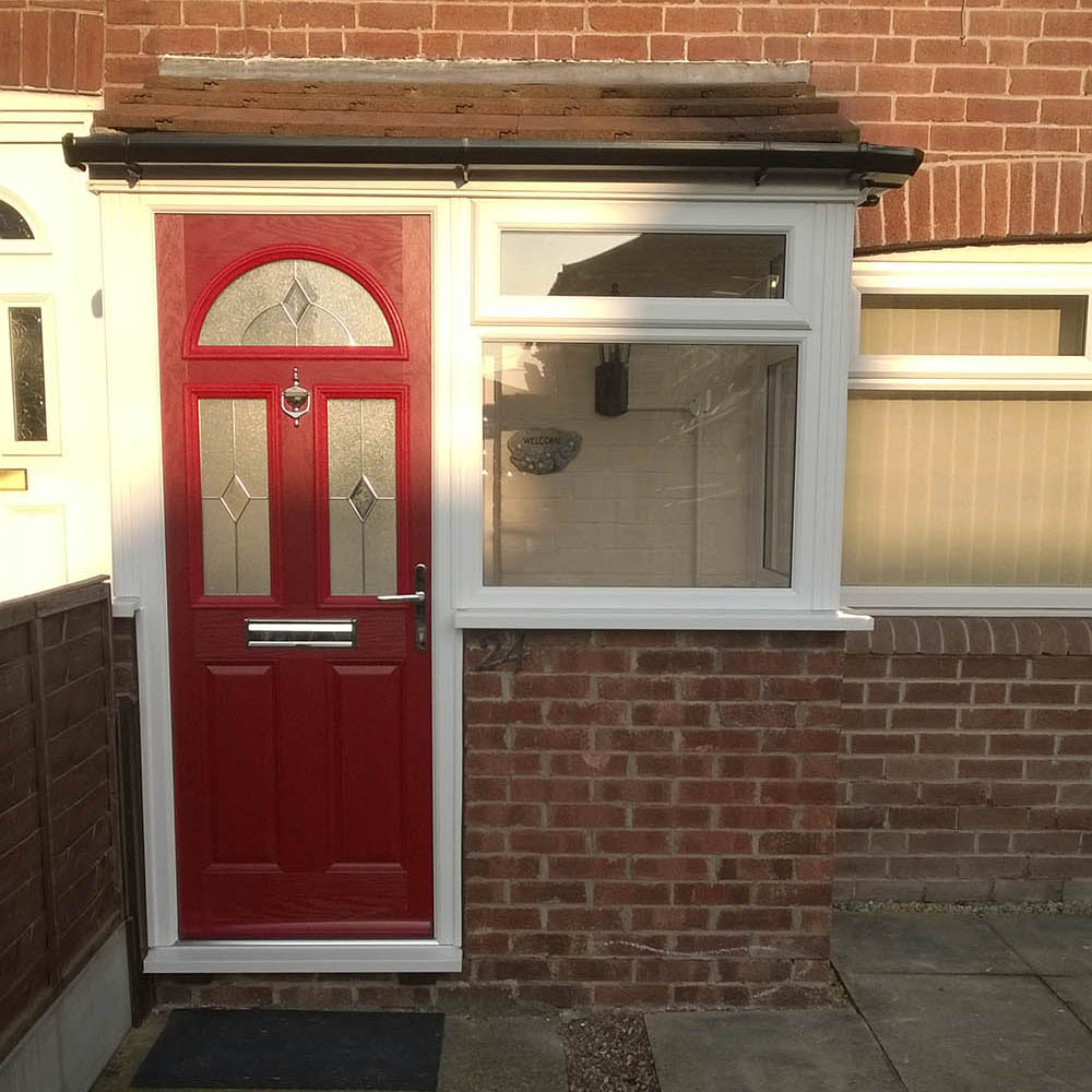 Red uPVC Door